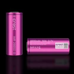 Batterie Efest 26650 IMR - Purple - Flat Top