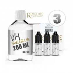 Pack 200 ml DIY 3 en 50/50 Revolute