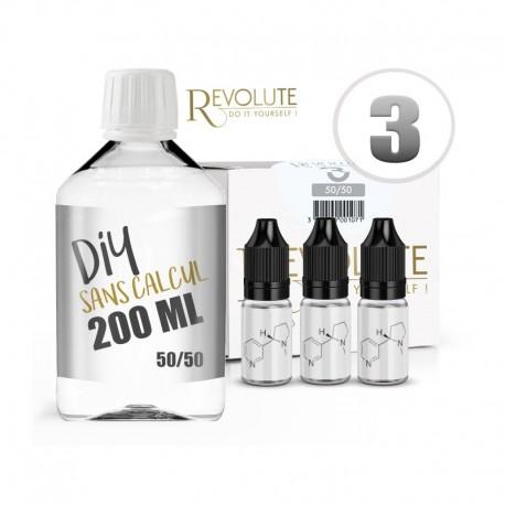 Pack 200 ml DIY 3 en 50/50 Revolute