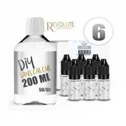 Pack 200 ml DIY 6 en 50/50 - Revolute