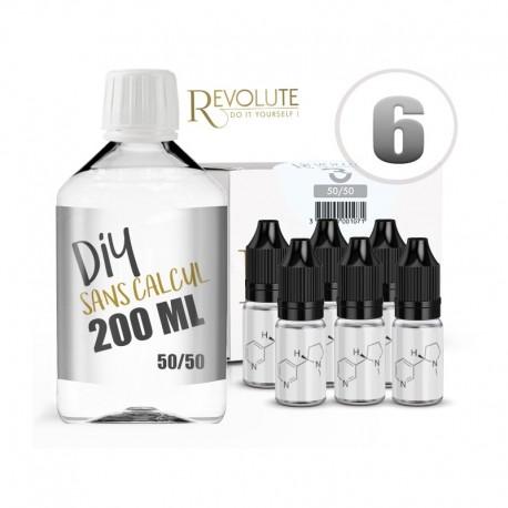 Pack 200 ml DIY 6 en 50/50 - Revolute