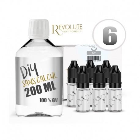 Pack 200 ml DIY 6 en GV - Revolute
