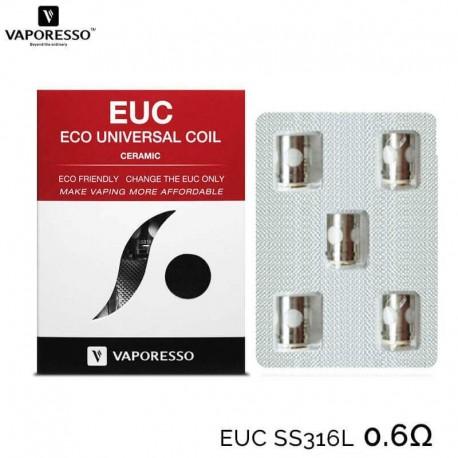 Résistance EUC SS316L céramic 0.6Ω Vaporesso