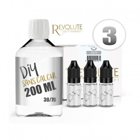 Pack 200 ml DIY 3 en 30/70 - Revolute