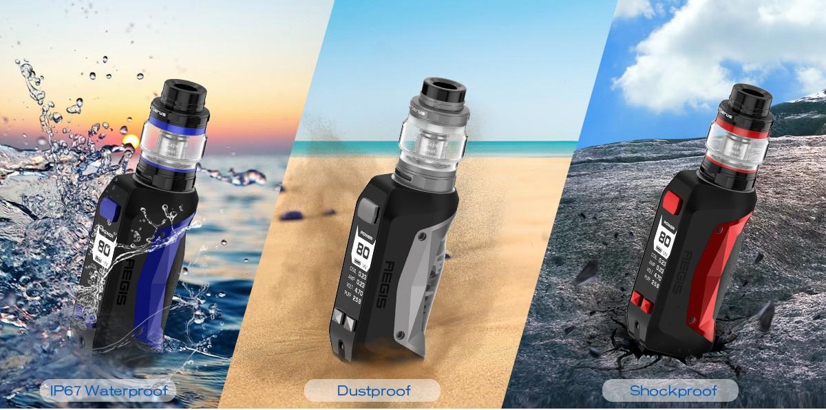 Protections extrêmes contre l'eau, les chocs et la poussière